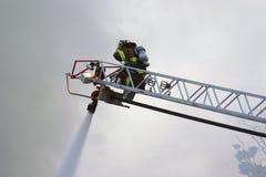 brandman mig Fotografering för Bildbyråer