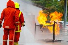 Brandman utbildning brandman Royaltyfria Bilder