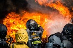 Brandman utbildning Royaltyfri Bild