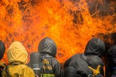 Brandman utbildning Arkivbilder