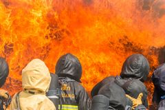 Brandman utbildning Royaltyfri Foto