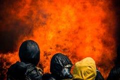 Brandman utbildning Arkivfoto