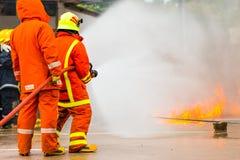 Brandman utbildning Arkivbild