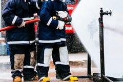 Brandman utbildning Royaltyfri Fotografi