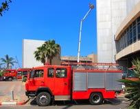brandmanbeskickningräddningsaktion Royaltyfri Fotografi