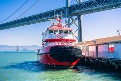 Brandmanfartyg, San Francisco royaltyfria foton