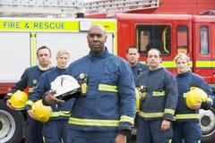 brandmangruppstående Royaltyfri Foto