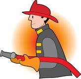 brandmanmanlig Arkivfoton