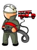 brandmansymbol Vektor Illustrationer