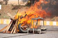 Brandmanutbildning övar Royaltyfria Bilder