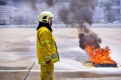 Brandmanutbildning Arkivfoton