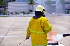 Brandmanutbildning Arkivbild