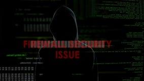 BrandmauerEmission von wertpapieren, erfolgloser Versuch, Computer mit Virus anzustecken stock video