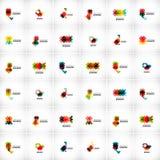 Brandmerkende elementen van het bedrijf de vectorembleem Stock Foto's