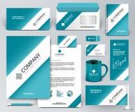 Brandmerkende ontwerpuitrusting Witte band, lint op blauwe achtergrond Royalty-vrije Stock Foto