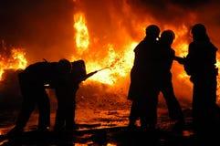 brandmän Arkivfoto