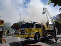 Brandmotorer fungerings av den Victoria Fire avdelningen royaltyfria bilder