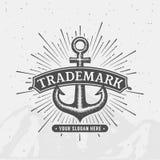Brandname anchor emblem Stock Image