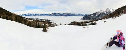 Brandnertal slopes panorama stock photos
