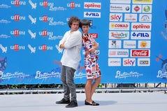 Brando Pacitto  e Denise Tantucci al Giffoni Film Festival 2016 Stock Photography
