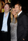 Brandon Camp, Aaron Eckhart och Jennifer Aniston Arkivfoton