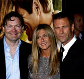 Brandon Camp, Aaron Eckhart y Jennifer Aniston Fotos de archivo libres de regalías