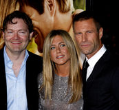Brandon Camp, Aaron Eckhart y Jennifer Aniston Imagenes de archivo
