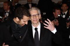 Brandon Cronenberg und David Cronenberg stockfotografie