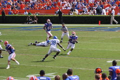 Brandon James fields the Kickoff. Brandon James returns a kickoff against Kentucky during and SEC showdown Stock Image