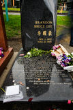 Brandon Lee-Grabstelle Stockbild