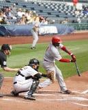 Brandon Phillips of Cincinnati Reds. Checks his swing Royalty Free Stock Photography