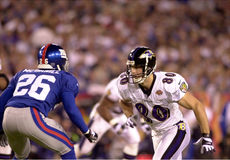 Brandon Stokely, Super Bowl XXXV. Ravens WR Brandon Stokely in Super Bowl XXXV action.  (Image taken from color slide Royalty Free Stock Photo