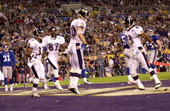 Brandon Stokley, Super Bowl XXXV. Wide Receiver Brandon Stokley of the Baltimore Ravens in action during Super Bowl XXXV. (Image taken from color slide Royalty Free Stock Photo
