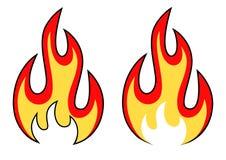 Brandpictogrammen Stock Afbeelding