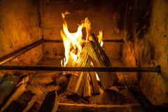 Brandplaats Stock Fotografie