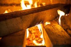 Brandplaats Stock Foto