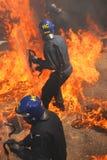 Brandpolitie Royalty-vrije Stock Afbeeldingen