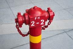 Brandpost på trottoaren Arkivbilder