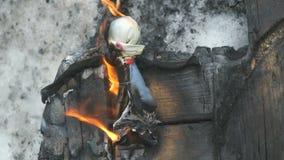 Brandpuppe auf Shrovetide Russischer Feiertag stock video footage