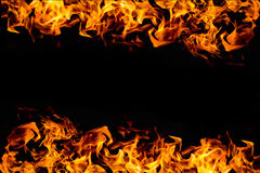 Brandram på mörker för bakgrund Arkivbilder
