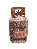 Brands behållare för gas för skada endast en royaltyfria bilder