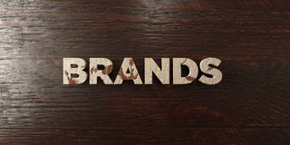Brands - grungy wooden headline on Maple  - 3D rendered royalty free stock image Royalty Free Stock Image