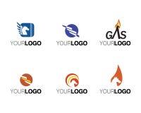 brands vektorn för kommersiella logoer Arkivfoton