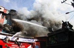Brandschade stock foto