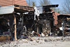 Brandschaden Lizenzfreies Stockfoto