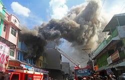 Brandschaden lizenzfreies stockbild