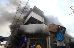 Brandschaden Stockbild