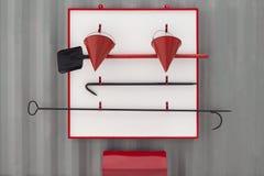 Brandschild Stock Afbeelding