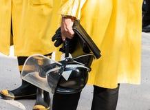 Brandschutzübung lizenzfreie stockbilder
