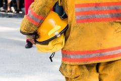 Brandschutzübung stockfotos